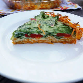 Spinach Quiche with Sweet Potato Crust.