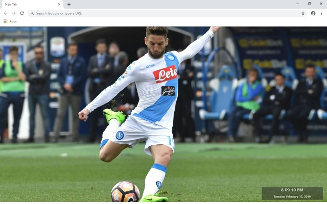 Dries Mertens New Tab & Wallpapers Collection
