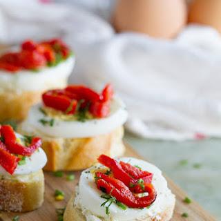 Egg and Pepper Crostini