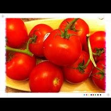 Photo: Tomatoes on vine #intercer - via Instagram, http://instagr.am/p/KCOT_FJflc/