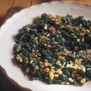 Spinach with Pinenuts and Sultanas Recipe