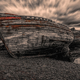 The Forgotten Ones by Micke Holmberg - Transportation Boats ( sky, isle of mull, wrecks, boats, clouds, water, sea, summer, scotland, canon, rainy, ships, uk, last rest, grey clouds,  )