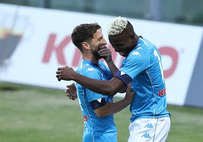 Mertens scoort niet, maar Napoli wint wel overtuigend van Bologna met doelpunt van Osimhen