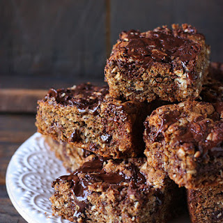 Honey Roasted Peanut Butter Chocolate Oat Bars