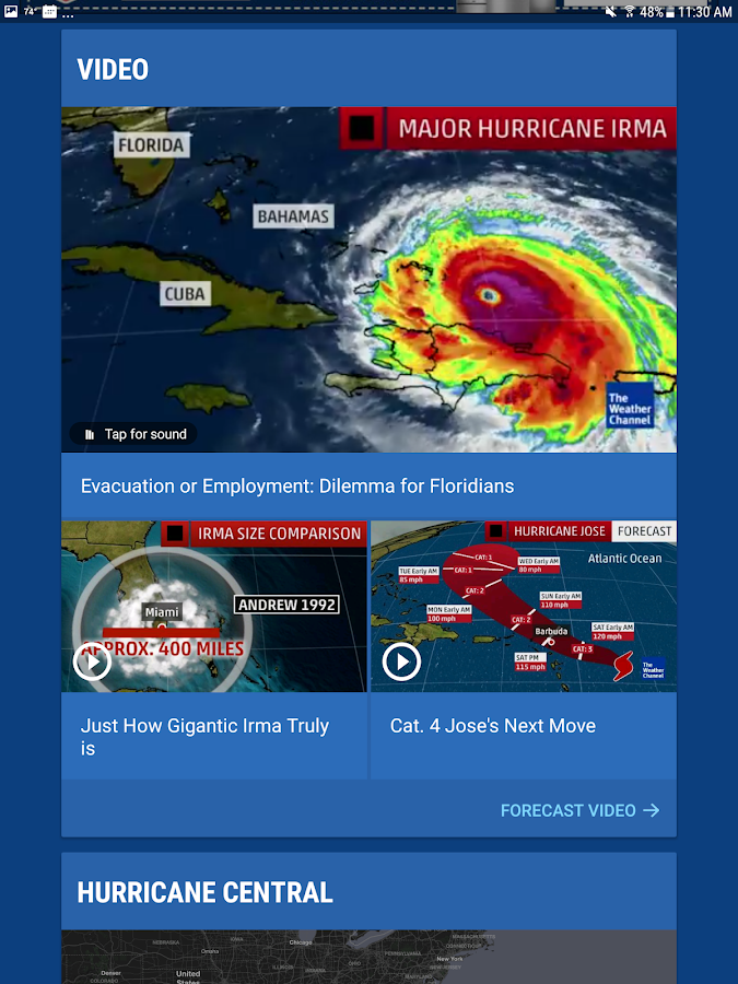 The Weather Channel: Local Forecast & Weather Maps- screenshot