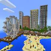 Sea town, map for MCPE