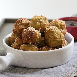 Healthy Vegetable & Turkey Meatballs (oven baked).
