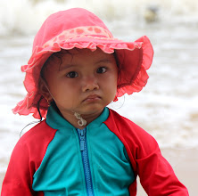 Photo: Year 2 Day 24 - A Sweet Girl Enjoying the Sea at Ho Tram (Vietnam)