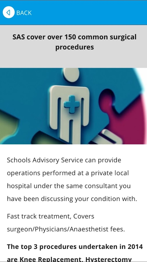 Schools Advisory Service- screenshot