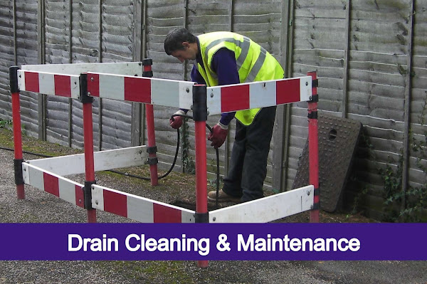 drainage technician drain cleaning