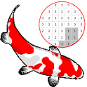 Koi Fish Color By Number - Pixel Art icon