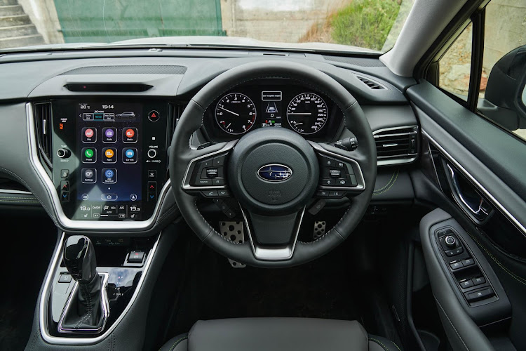 A new vertical 11.6-inch touchscreen infotainment system is compatible with Apple CarPlay and Android Auto.