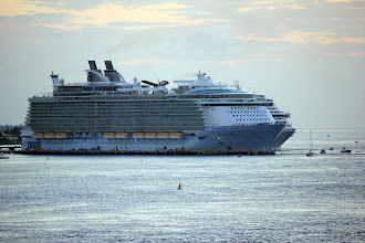 Photo: Allure of the Seas, along with Oasis of the Seas, both considered the largest cruise ships in the world at 5400 passengers.