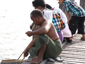 Photo: Year 2 Day 55 - Fisherman on U Bein's Bridge