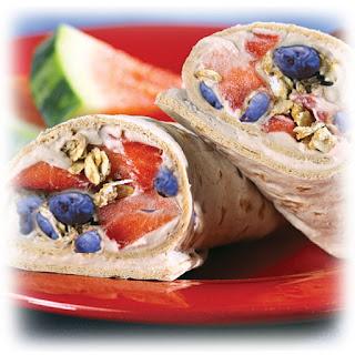 Sweet-N-Crunchy Flatbread Wrap