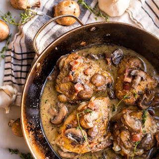 Creamy Whole30 Bacon Mushroom Chicken Thighs Recipe