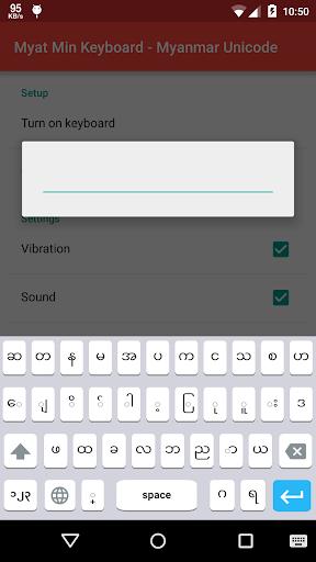 Myat Min Keyboard - Unicode