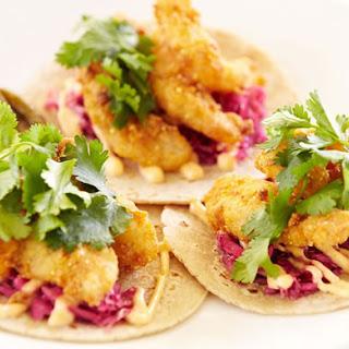 Authentic Baja Style Fish Tacos.