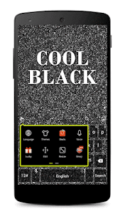 Cool Black Keyboard Theme screenshot 2