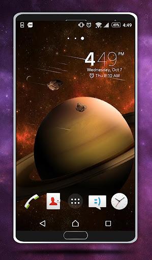 土星動態壁紙