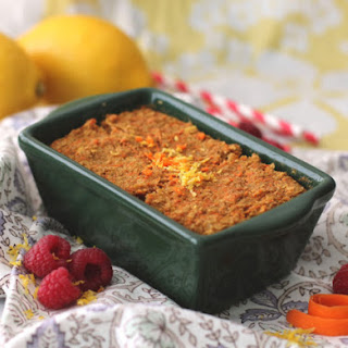 Microwaveable Carrot Cake Quinoa Flake Protein Loaf.
