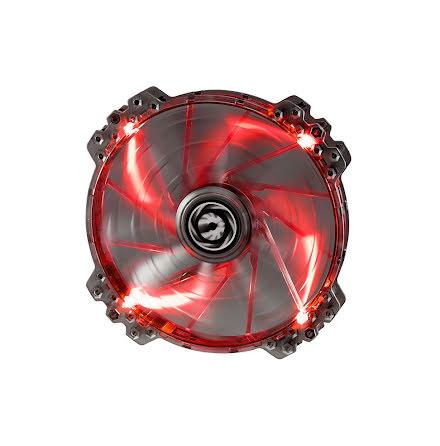 Bitfenix vifte m/rød LED, Spectre PRO, 200x25, sort