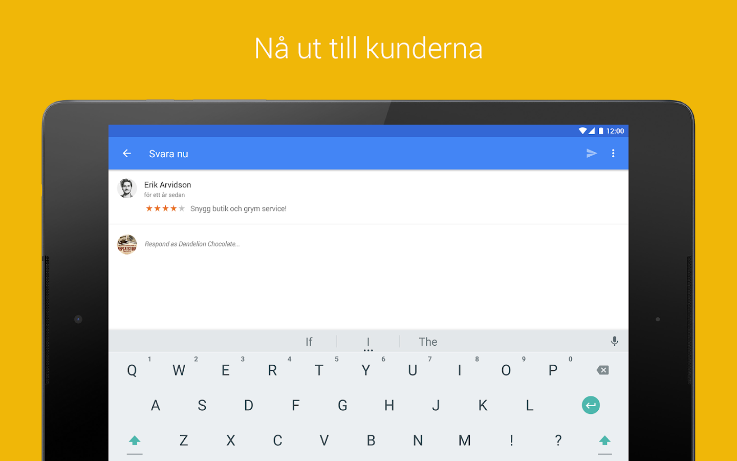 Google My Business– skärmdump