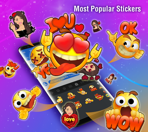 TouchPal Emoji Keyboard: AvatarMoji, 3DTheme, GIFs screenshots 1