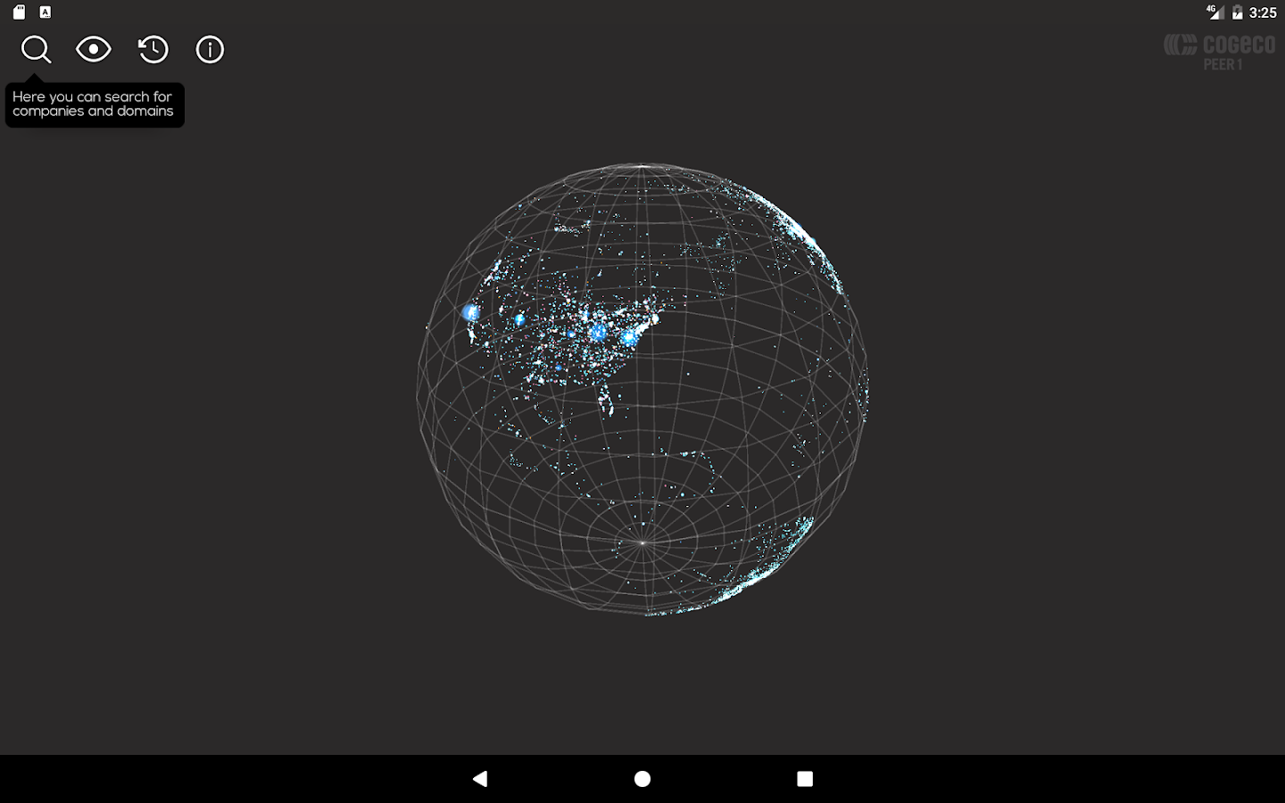 Map of the Internet by Cogeco Peer 1- screenshot