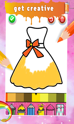 Glitter Nail Drawing Book and Coloring Game screenshot 14