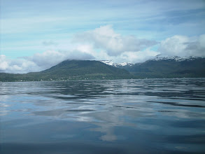 Photo: Ketchikan comes into view in Revillagigedo Channel.