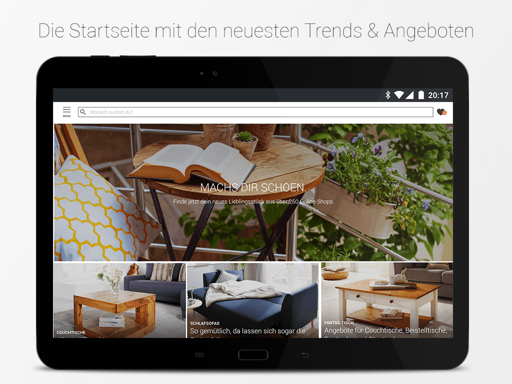 m bel wohnen deko und einrichtung android apps on google play. Black Bedroom Furniture Sets. Home Design Ideas
