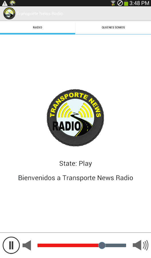 Transporte News Radio: captura de pantalla