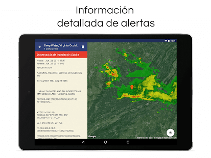 Pron stico del tiempo y radar aplicaciones android en for Aplicacion del clima