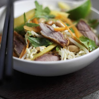 Sliced Duck and Veggie Bowl.