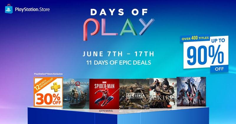 PlayStation Network DAYS OF PLAY โปรโมชั่นพิเศษลดสูงสุดถึง 90%