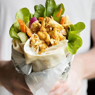 Rotisserie Chicken Shawarma Pita Wrap.