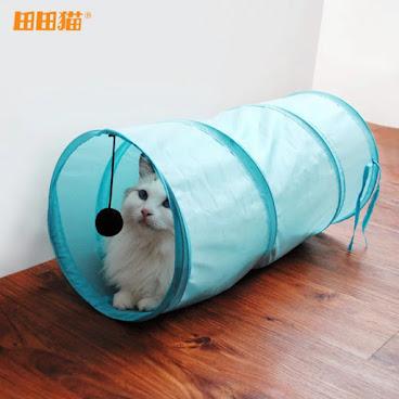 田田貓 賬篷/貓玩具 長度5OCM 直徑25CM