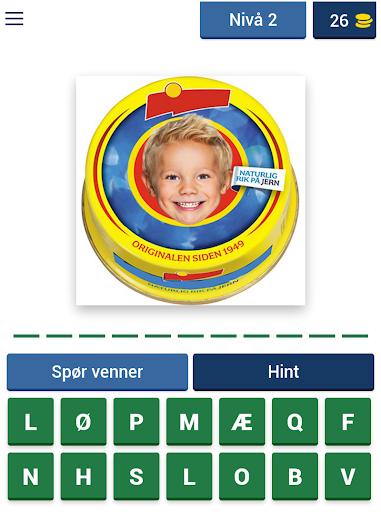 Norsk Mat Quiz: Gjett Kjente Matvarer fra Butikken apktram screenshots 13