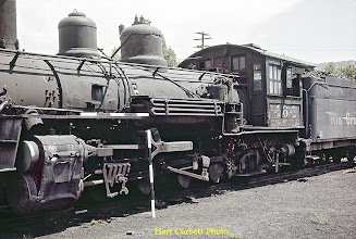 Photo: 078-09.  Fireman's side of class K-27 #464 stored in abandoned condition on roundhouse turntable spur.  7/28/60.