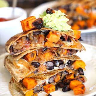 Sweet Potato and Black Bean Quesadillas.