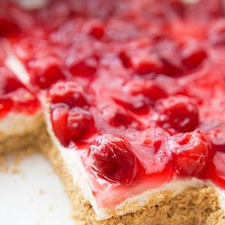 No Bake Cherry Cheesecake Dessert.