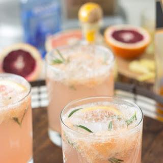 Sparkling Grapefruit Cocktails.