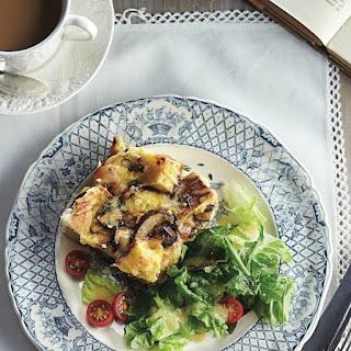 Cheese And Mushroom Strata.