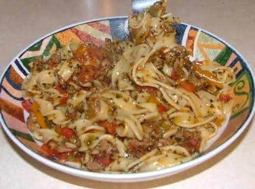 """Italian Drunken Noodles """"I made this tonight for dinner and the whole..."""
