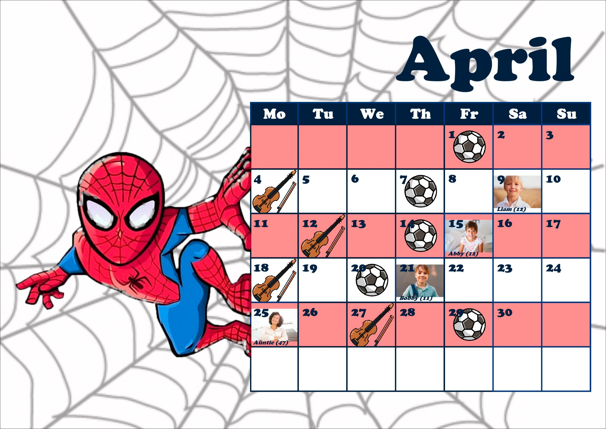 diy school calendar software