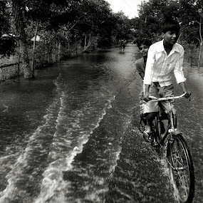the phailin story  by Abinash Patra - City,  Street & Park  Street Scenes ( water, people.street )