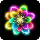 Neon Flowers Livewallpaper