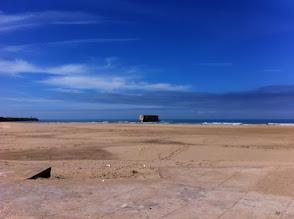 Photo: Casademar at Tarfaya and far behind the Canary Islands