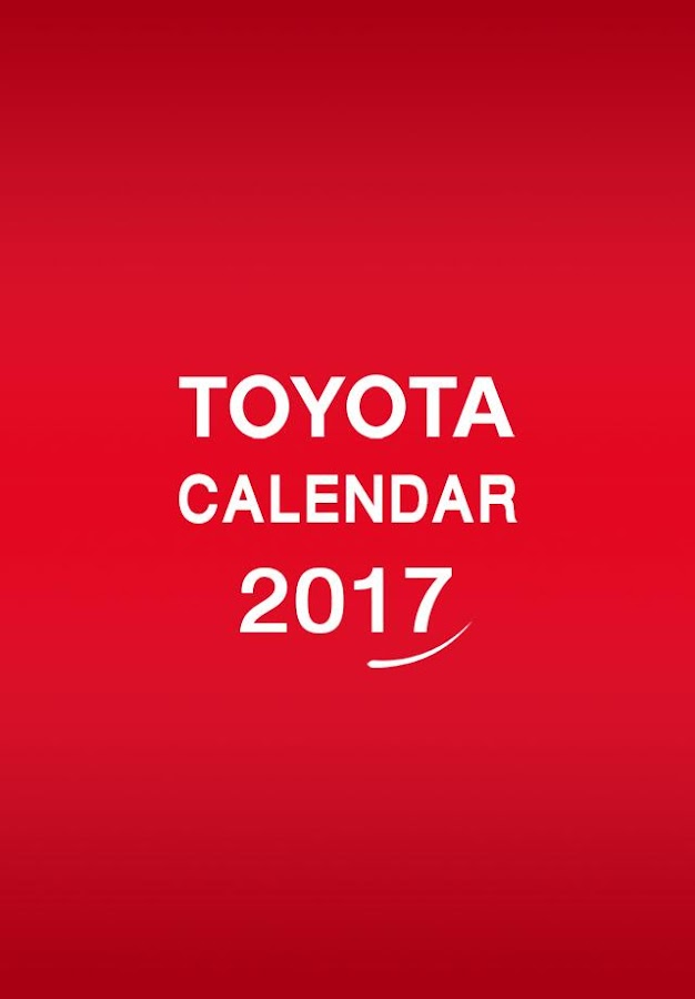 TOYOTA CALENDA 2017- screenshot
